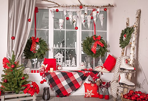 HUAYI Christmas Backdrop Photography Backdrops Party decorations for home large size background Indoor Photo Studio Props 8x6.5ft Xt-6313