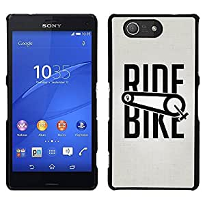 EJOY---Cubierta de la caja de protección para la piel dura ** Sony Xperia Z3 Compact ** --Paseo de la bicicleta Deporte Ejercicio Ciclista