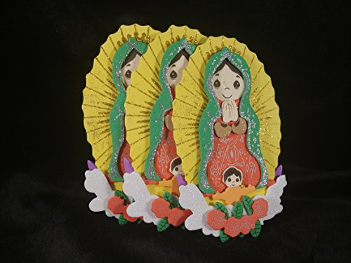 - Cute Mini Virgen De Guadalupe Figura De Foamie Para Bautizo, Confirmacion.