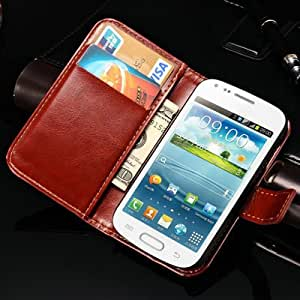 ModernGut Vintage Wallet with Card Holder Stand PU Leather Case For Samsung Galaxy Trend Duos S7562 Phone Bag