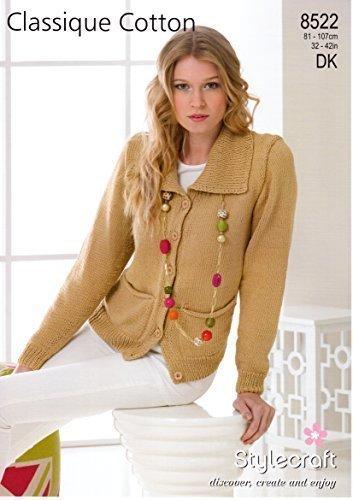 Stylecraft Knitting Pattern Classique Cotton Dk Yarn Cardigan