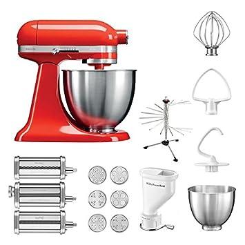 KitchenAid Küchenmaschine Mini, 5KSM3311XE, Pasta Paket inkl. TOP ...
