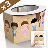 Zensuno Emergency Foldable Portable Disposable Hygienic Instant Potty for Kids Toddlers Small Children and Babies, Great for Road Trip, Camping, Traveling, Hiking and Car Essential (3 Pack, Age 4-6)