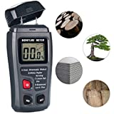 Wood Moisture Meter, FOREVERHOPE Digital Moisture Tester Damp Meter, Humidity Measuring with HD LCD for Wood Walls Firewood Logs Lime Plaster Concrete Cardboard Paper Brick (Range 0-99.9%)