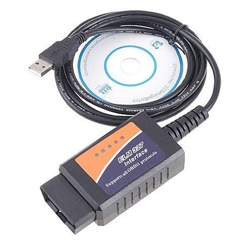 TOOGOO(R) V1.5 ELM327 OBD2 CAN-BUS Diagnostic Interface Scanner (Peugeot 206 Computer)