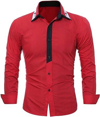 qulvyushangmaobu camisa casual con botones para hombres ...