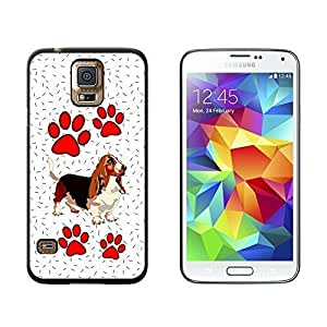 New Style Basset Hound of Beauty - Snap On Hard Protective Case for Samsung Galaxy S5 - Black