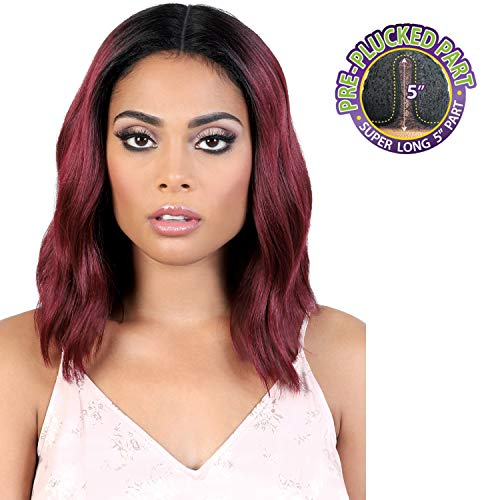 (Motown Tress Synthetic Hair Lace Front Wig Pre-Plucked Deep Part Lace LDP-Trina (RLREDWINE/99J))