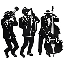 Beistle 57770 3-Pack Jazz Trio Silhouettes, 18-Inch