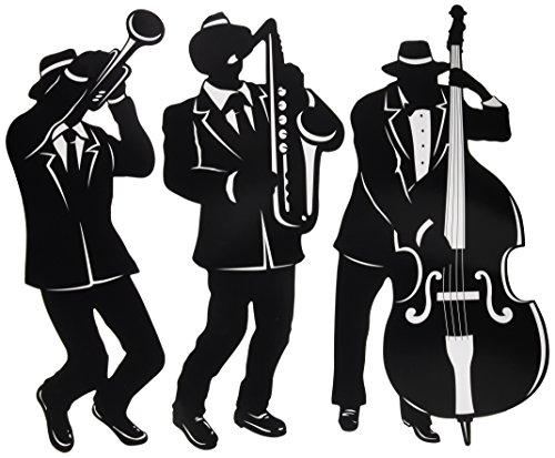 Jazz Trio Silhouettes 3 Pkg