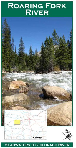Roaring Fork River 11x17 Fly Fishing Map