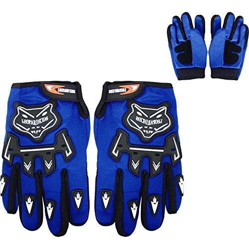 Children Kids Motorbike Race Suit XL Leopard LEO-X17 Blue Kids Motocross Helmet S /& Goggles 5cm 49-50cm 11-12Yrs /& Gloves S