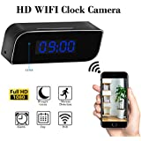 Hidden Camera,Haoweiming Spy Camera Professional WiFi Clock Camera 1080P Video Recorder Rechargeable Wireless Security Camera Motion Detection Alarm Night Vision Home Security