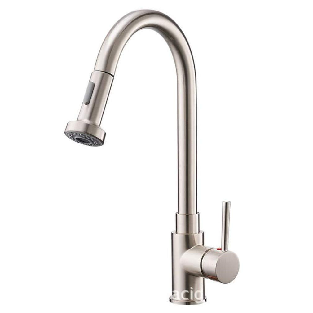 Bathroom Sink Basin Lever Mixer Tap Drawing Process Kitchen Cold and Hot Water Faucet Pull Out Shrunk Sink Dish Faucet