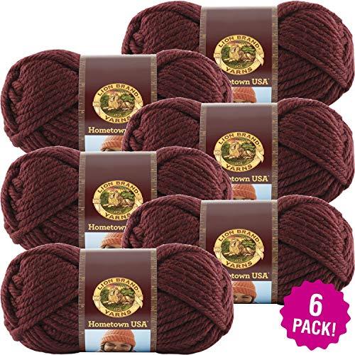 - ODDITIES Lion Brand Hometown USA Yarn 6/Pk-Napa Valley Pinot