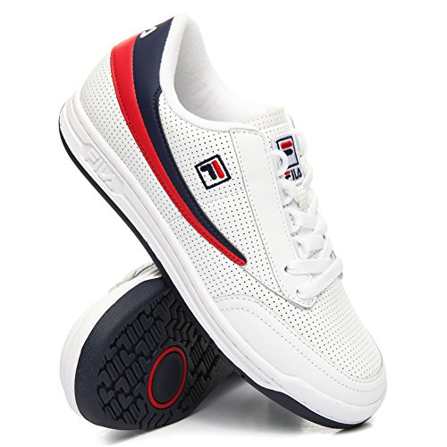 Fila Men's Original Tennis Perf Low Top Athletic Sneakers White 10.5 M