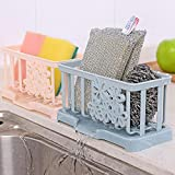 Hadaboo Box Drainer Tray Sink Drain Sponge Clean Wipes Drying Rack Washing Holder Kitchen Organizer Shelf