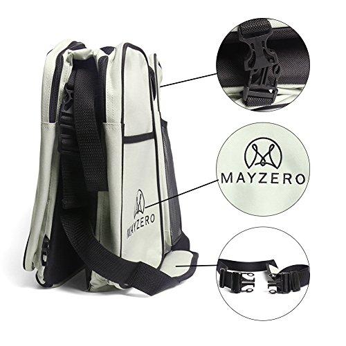 MAYZERO 3 en 1 cuna de viaje bolsas de pañales y cuna portátil Cambio de estación, bolsas de mano, Pañal para bebés Capazo cama(Tan) canela