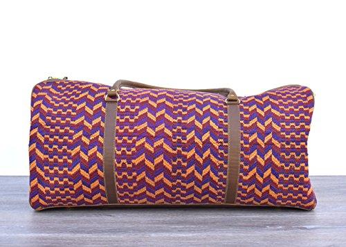 Vintage Mayan Textile Duffel Bag - No. 831