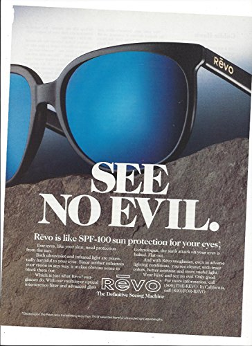 **PRINT AD** For Revo Sunglasses 1989 See No Evil Original **PRINT - Sunglasses Sale For Revo