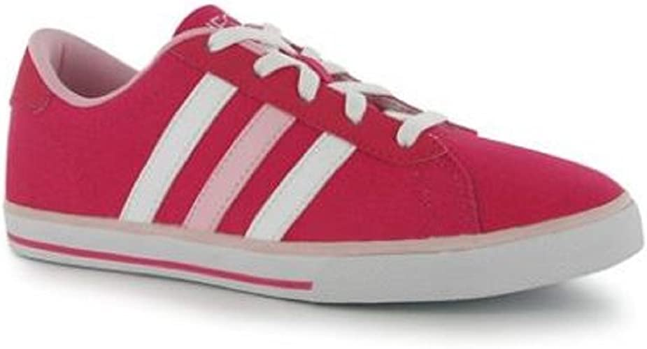adidas Girls Trainers Canvas Pumps Pink Daily Vulc UK Child