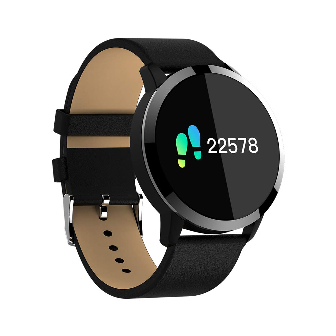 Amazon.com: Smart watch Touch Q8, Long Standby Heart Rate Blood Pressure Blood Oxygen Calorie Anti-Lost Bracelet, Gold, Black, Silver.for Android and ...