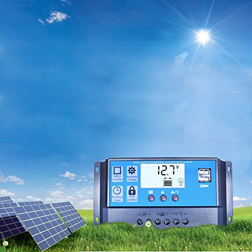 Mohoo 20A Charge Controller Solar Charge Regulator Intelligent USB Port Display 12V-24V MOHOO Co.,LTD Solar Power And Accessories