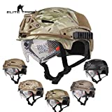 Paintball Equipment Airsoft Hunting Tactical Helmet Combat Helmet with Goggle (Black)