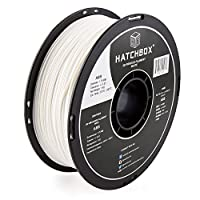 HATCHBOX ABS 3D Printer Filament, Dimensional Accuracy +/- 0.03 mm, 1 kg Spool, 1.75 mm, White by HATCHBOX