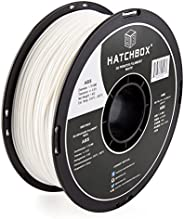 HATCHBOX ABS 3D Printer Filament, Dimensional Accuracy +/- 0.03 mm, 1 kg Spool, 1.75 mm, White, Model Number: