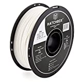 HATCHBOX ABS 3D Printer Filament, Dimensional Accuracy + - 0.03 mm, 1 kg Spool, 1.75 mm, White
