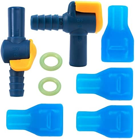 Water Bag Silicone curved Hydration Pack Suction Nozzle Bite Valve Bladder HFUK