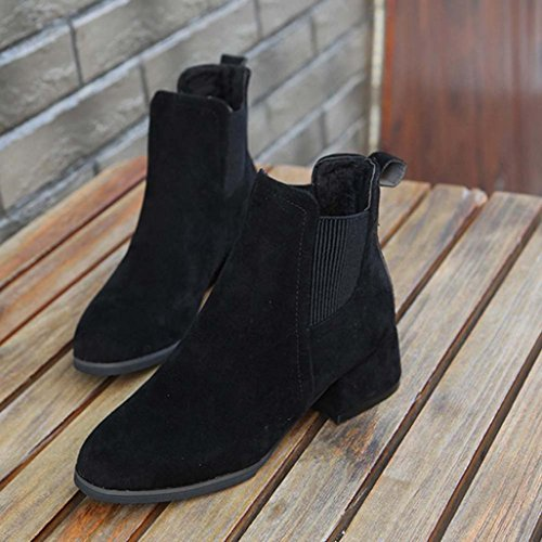 Heels Ankle Buckle Martin KaiCran Boots Women Black Spring Middle Shoes Shoes Womens q11px84X