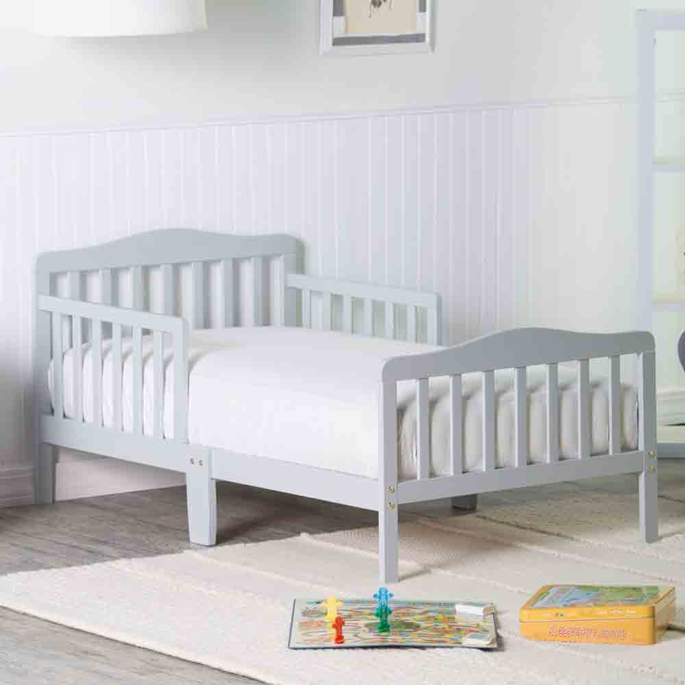 Orbelle Contemporary Safe Solid Wood Toddler Bed Toddler Beds For Boys Toddler Beds For Girls With Toddler Bed Rails Recommended For Ages 18 Months To 5 Years Grey Amazon In Electronics