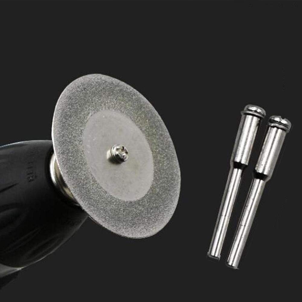 Vented Diamond Cutting Disc Kit Double Sides Diamond Cutting Wheel Cut Off Discs Coated Rotary Tools With 10PCS Cutting Disks And 2PCS Arbor Shafts 10PCS Cutting Disc Diamond Blades