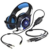 Beexcellent Gaming Headset with Mic, PS4 PC Gaming Headphones Surround Sound/Noise Reduction/Stereo Computer
