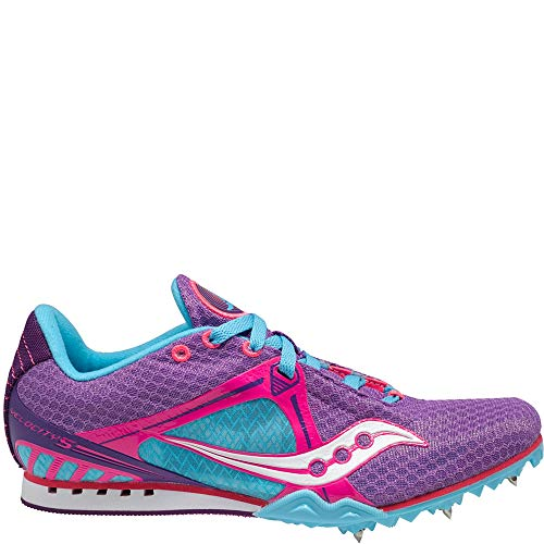 Saucony Women's Velocity Track Shoe,Purple/Pink/Light-blue,10 M US