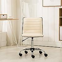Roundhill Furniture OF1011BG Fremo Chromel Adjustable Air Lift Office Chair, Beige