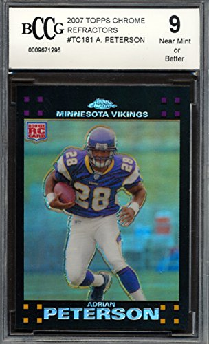 2007 Topps Chrome Refractors #TC181 Adrian Peterson Rookie Card Graded BCCG 9 ()