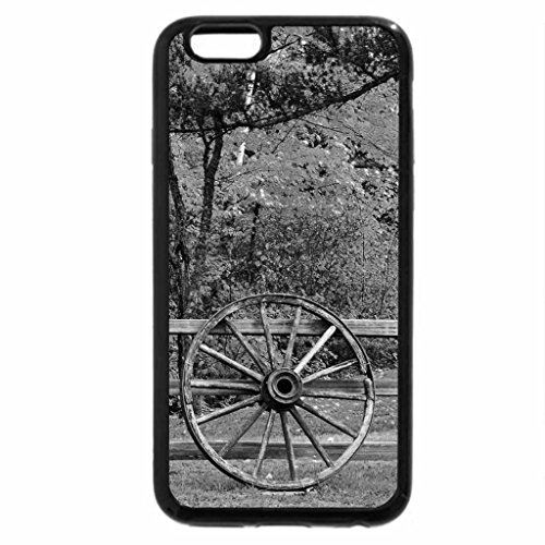 iPhone 6S Plus Case, iPhone 6 Plus Case (Black & White) - Old Wheel