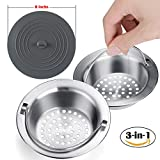 Kitchen Sink Strainer,Anybest Stainless Steel surface manually polished, 4.34 Inches in Diameter,Contains a Silicone Lid