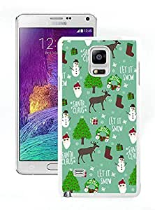 Fashion Style Merry Christmas White Samsung Galaxy Note 4 Case 18