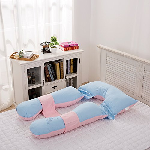LUOTIANLANG cotton type U ergonomically designed pillow for pregnant women in pregnancy and lactation pillow adjusting detachable multifunctional pillow height,d,85cm 145cm