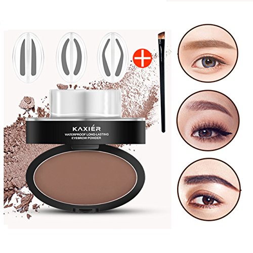 CCbeauty Eyebrow Powder Stamper Seal Kit Eyebrow Kit Powder Waterproof Makeup Eyebrow Tinting Coloring Kit,Light Brown by CCbeauty (Image #2)
