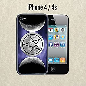 iPhone Case Moon Goddess Symbol Wicca for iPhone 4 /4s Plastic Black (Ships from CA)
