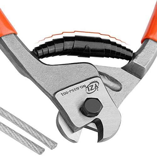 WY-WY 家の修理や屋外機械の修復に適した、8インチ多機能ワイヤーカットショートプライヤーセット(カラー:レッド、サイズ:8インチ) ラジオペンチ