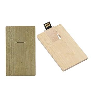 4GB Madera Tarjeta USB 2.0 Flash Memory Stick Drive Storage ...