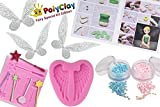 PolyClay Fairies Modeling Clay Crafting Accessories Kit Kids 10 PCS DIY Themed Crafting Projects Simple Step Step Create Arts Figures