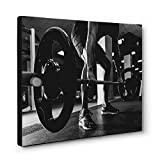 FITNESS Photo Lifting Weights CANVAS Wall Art Home Décor