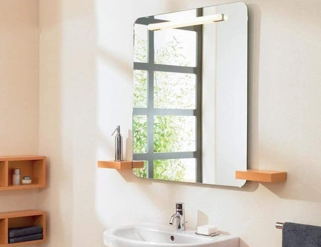 LQY Miroir de Salle de Bain Anti-buée HD Miroir Mural sans Cadre